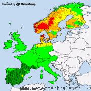 Alertes actuelles pour l'Europe